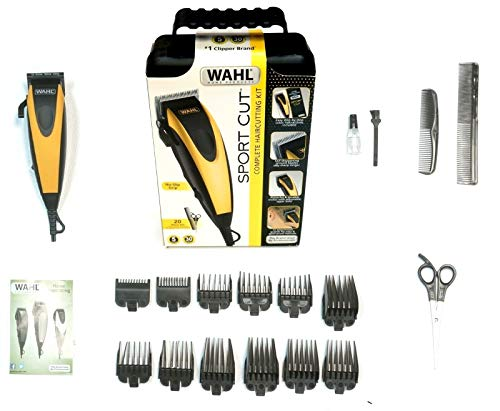 Wahl 20-Piece Combo Sport Cut No-Slip Self Sharpening Complete Clippers Haircut Kit #9423