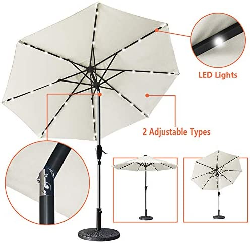 Mefo garden 9ft Solar Umbrella