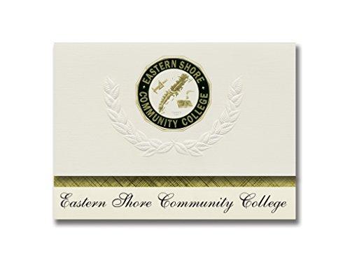 Signature Announcements Eastern Shore Community College Graduation Announcements  Platinum Style  Basic Package 20 With Eastern Shore Community College Seal Foil