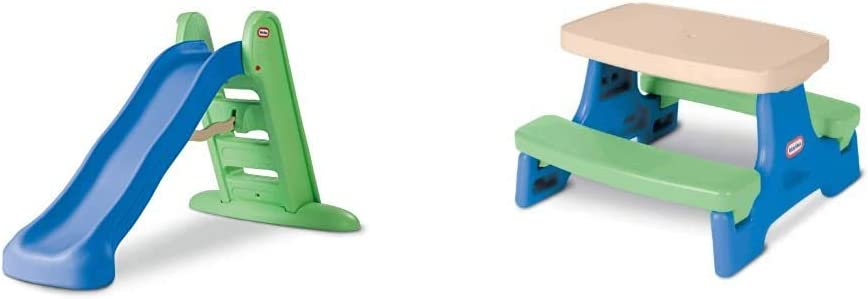 Little Tikes Easy Store Large Slide & Easy Store Jr. Play Table [Amazon Exclusive]
