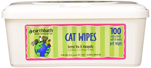 Earthbath Ear Grooming Wipes Green Tea 100pk