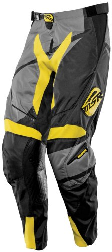 MSR Racing Renegade Men's Dirt Bike Motorcycle Pants - Black/Grey/Yellow / Size (Msr Mens Dirt Motorcycle)