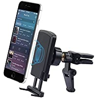Car Mount,Phone Holder for Car,Qcute Universal Aluminium Magnetic Air Vent Car Phone Mount Cell Phone Holder Cradle With Strong Magnetic and Kickstand for iPhone X 8/8 Plus,Galaxy S6/S7/S8 and More