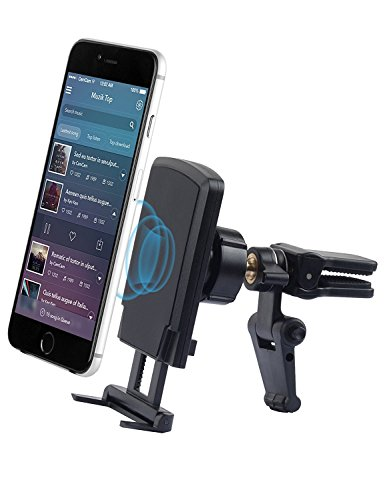 Car Mount,Phone Holder for Car,Qcute Universal Aluminium Magnetic Air Vent Car Phone Mount Cell Phone Holder Cradle With Strong Magnetic and Kickstand for iPhone X 8/8 Plus,Galaxy S6/S7/S8 and More - Kickstand Mount