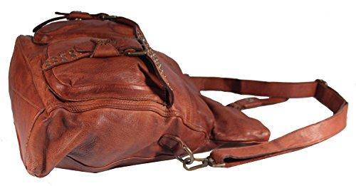 Rodhschild - Bolso cruzados para mujer marrón Mahogany Braun marrón claro