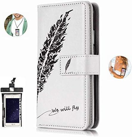耐汚れ 耐摩擦 iPhone 8 PLUS ケース 手帳型 本革 レザー カバー 財布型 スタンド機能 カードポケット 耐摩擦 全面保護 人気 アイフォン[無料付防水ポーチケース]