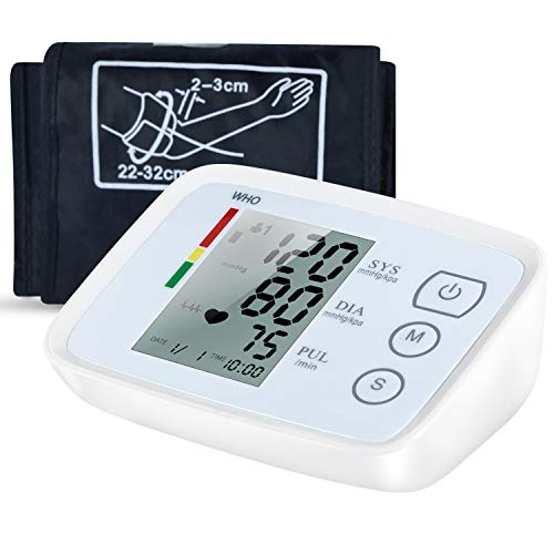 Blood Pressure Monitor Accurate Automatic Upper Arm BP Machine Heart Rate Monitor Meter Dual User& 99 Sets Memory with Large Display Screen Voice Prompt for Home - Ati Dual Monitor