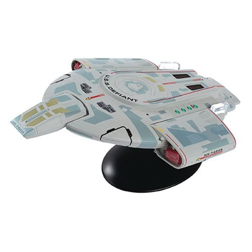 (Eaglemoss Star Trek The Official Starships Collection #23: Lg USS Defiant NX-74205 Ship Replica, Multicolor APR182194)