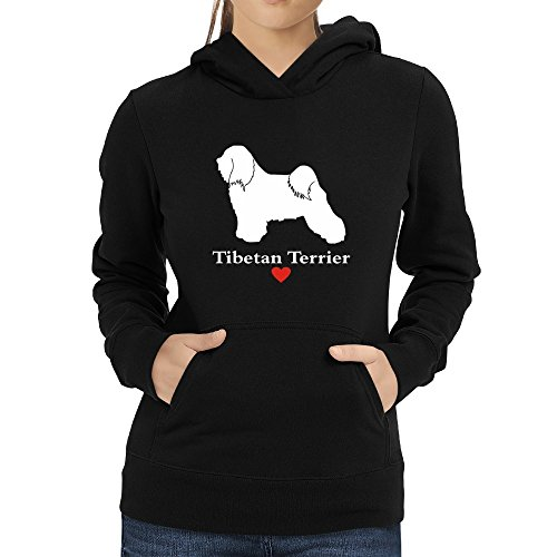 donna donna donna cappuccio Terrier love Tibetan Eddany Felpa con con con con da 51w06Xq
