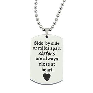 JJTZX Best Friend Bracelet Side by Side or Miles Apart Bracelet Long Distance Friendship Gift