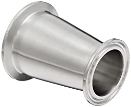 Dixon B3114MP-G200150 Stainless Steel 304 Sanitary Fitting, Clamp Concentric Red Fiberglassucer, 2\