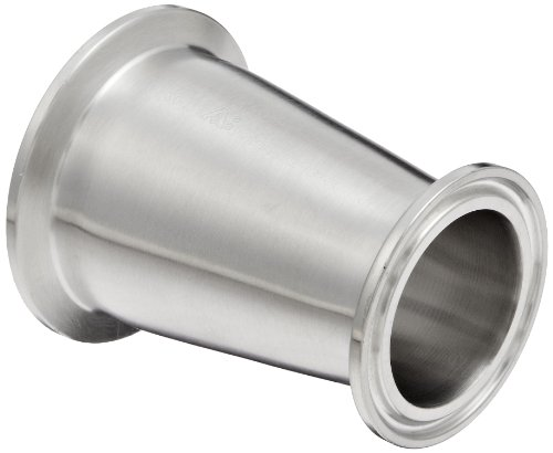 Dixon B3114MP-G200150 Stainless Steel 304 Sanitary Fitting, Clamp Concentric Red Fiberglassucer, 2'' Tube OD x 1-1/2'' Tube OD by Dixon Valve & Coupling