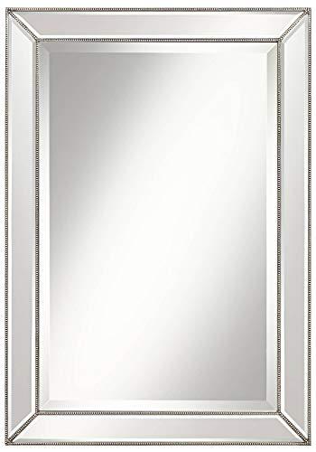 Uttermost Roseau Silver Pewter 24 x 34 Beaded Mirror