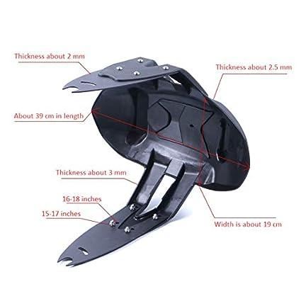 Semoic Accesorios de Motocicleta Soporte de Guardabarros Trasero Guardabarros de Moto para CF Moto 120Nk 250Nk 400Nk 650 Nk