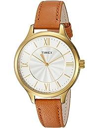 Women's TW2R27900 Peyton Brown/Gold-Tone Leather Strap Watch