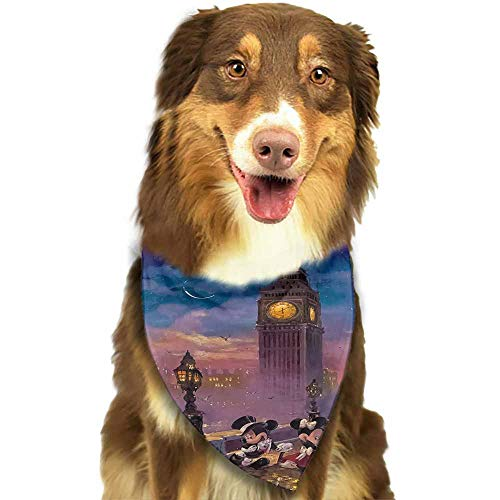 Custom Made Dog Bandana Med to Large Dogs,Christmas, Halloween, Thanksgiving, Valentine's Day, St. Patricks Day-Disney Mickey Mouse Pattern Printing Colorful]()