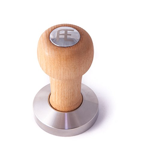 AE Fellini Tamper (58mm) espresso tamper - Polished stainless steel base and hardwood handle