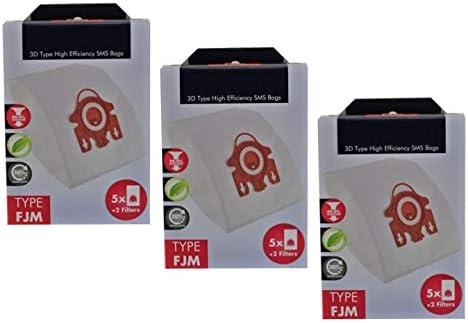 Deals365()(TM - Bolsas Hyclean Tipo 3D FJM para aspiradora Miele S700 S758 S768 S799 (15 Bolsas + Micro filtros de Aire): Amazon.es: Hogar