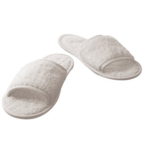 Towel City , Herren Hausschuhe Weiß