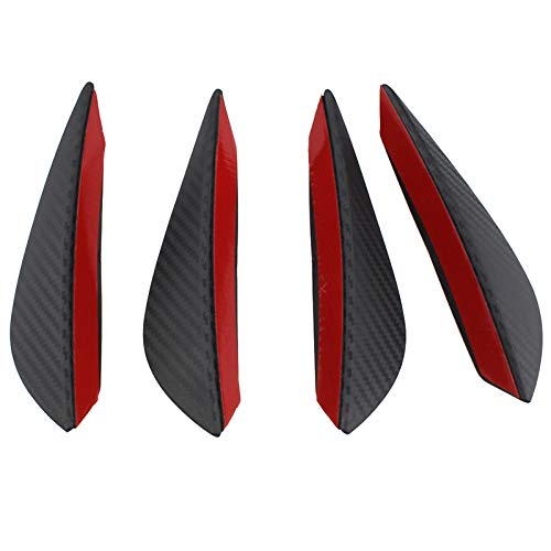 set fibra del carbonio dellautomobile Spoiler Canards Fit Paraurti anteriore Lip Splitter Fin Auto Body Kit NaN OurLeeme 4pcs