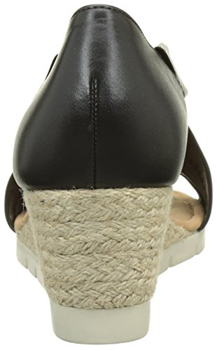 Shoes Noir Sandales Comfort Femme Bout Gabor Jute Schwarz Ouvert afdHFxB