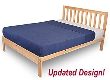 charleston 2 platform bed frame solid hardwood xl twin