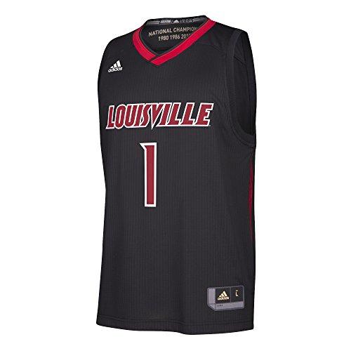 Cardinals Replica Jersey - NCAA Louisville Cardinals Replica Jersey, Large, Black