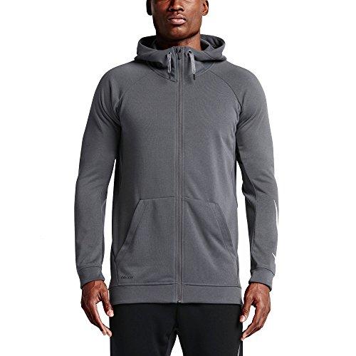 Nike Dri-FIT Full-Zip Men's Training Hoodie (Medium, Grey)