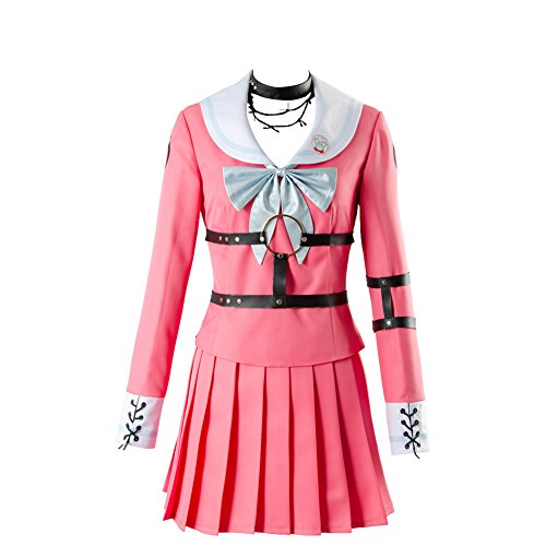 UU-Style Danganronpa V3 Killing Harmony MIU Iruma Uniform Suit Outfit Cosplay Costume Red]()