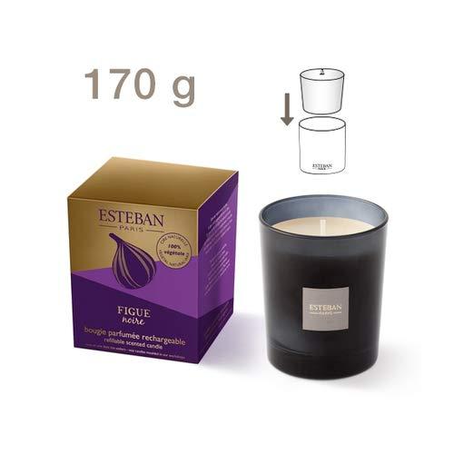 Esteban Scented Refillable Candle Figue Noire -Black Fig Moka