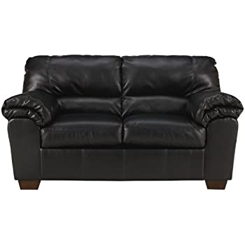 Flash Furniture Signature Design By Ashley Commando Loveseat In Black  Leather