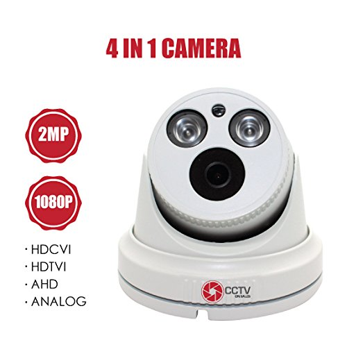 Eyeball Security Camera 1080P, 30fps, 2MP, 4 in 1 AHD/CVI/TVI/Analog Indoor/Outdoor Vandal Resistance Eyeball, Fixed Lens 2.8 mm, 1 Piece Matrix IR & Accessories