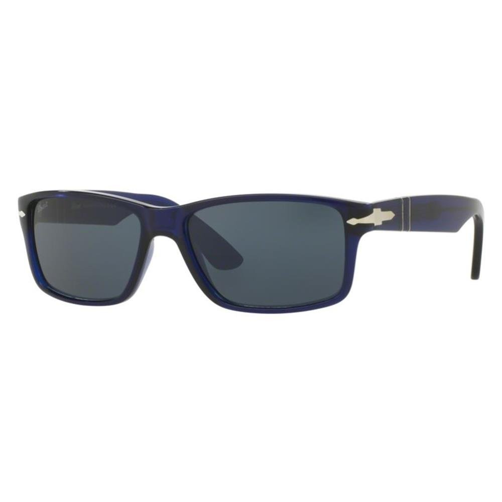 Amazon.com: Persol Mens Sunglasses (PO3154) Black Matte/Green ...