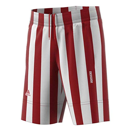 adidas Indiana Hoosiers Adult Candy Stripe Shorts - Team Color, X-Large ()