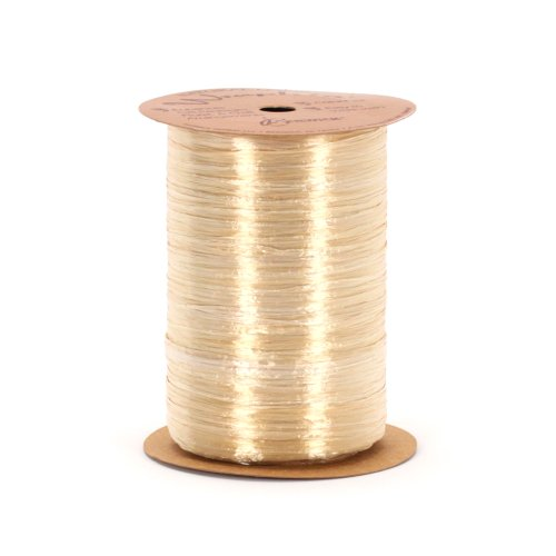 Berwick 7500024 Wraphia Pearlized Rayon Craft Ribbon, 100-Yard Spool, Oatmeal Pearl Raffia