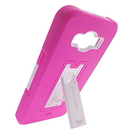 2Layer Armor Case Cover with 2Way Stand For Samsung Galaxy Grand Prime  Phone [For Model No: SM-G530, G530H, G530F, G530M, G530T, G5308W, G530P,  G531,