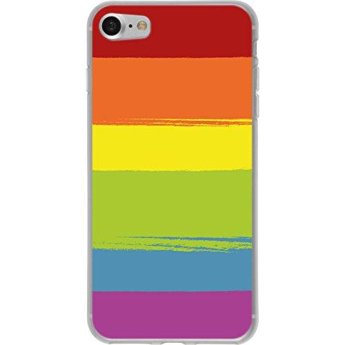 PhoneNatic Case für Apple iPhone 8 Silikon-Hülle pride Regenbogen M6 Case iPhone 8 Tasche + 2 Schutzfolien