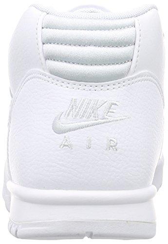 Nike Mens Air Trainer 1 Metà Scarpe Bianco / Platino Puro Bianco