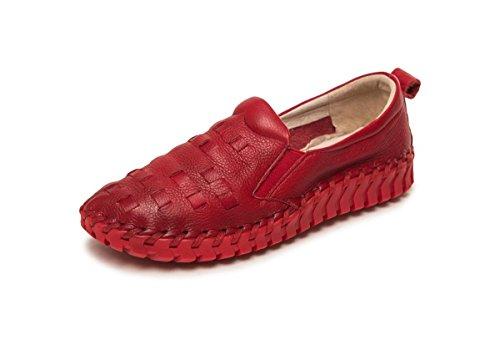 Invierno Genuina Trabajo Red Zapatos Únicos Pisos Bottom 4 37 Nvxie Señoras 5 Ocio Boca Embarazadas uk Baja Piel Moda Nuevo Eur Antideslizantes 5 Redonda Soft Mujer eur38uk55 Bombas Mujeres Partido Otoño Cabeza wn1qxgTA