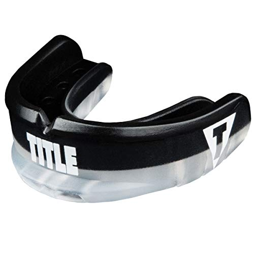 Title Boxing Air Force Duo-Defense Mouthguard, Black/Clear