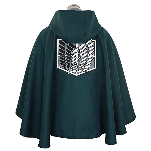 Cape Attack On Titan Costume (CG Costume Men's Attack on Titan Survey Corps Cape Cosplay Costume Black)