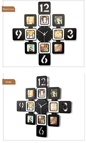 YXMxxm DIY Frame Clock,Modern Design DIY Photo Frame Clock High Density Board Art Pictures Clock - Make Your Own Multi-Photo Clock by YXMxxm (Image #2)
