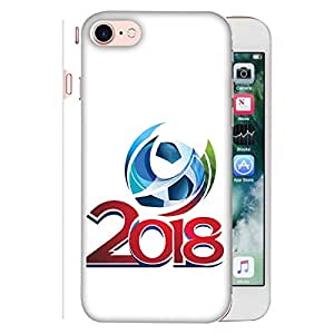 ColorKing Apple iphone 7 Football White Case shell cover - Fifa Cup 03
