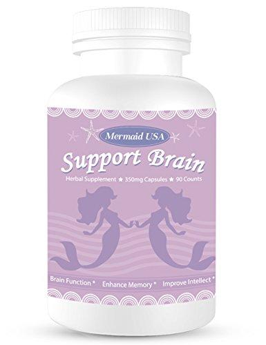 Magic Brain Formula M.U Mermaid USA Support Brain Memory Focus Clarity Energy and Sleep -Green and Natural Non-GMO