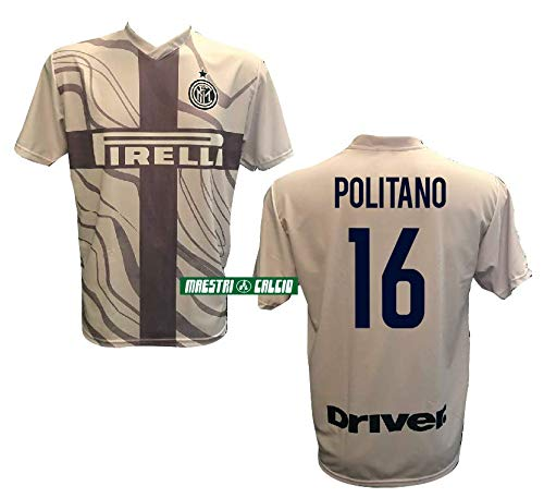 Inter Maglia Third Home Replica Ufficiale POLITANO 16 18/19 Adulto Bambino