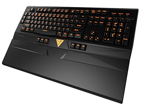 Gamdias ARES Membrane Gaming Keyboard with 16.8 Million Color Backlight, 9 Additional Keys and Ergonomic Wrist Rest (GKB6010) by GAMDIAS
