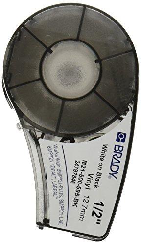 Pipe Stl Black - Brady M21-500-595-BK Cartridge, B595 Vinyl Indoor/Outdoor Material, 0.5
