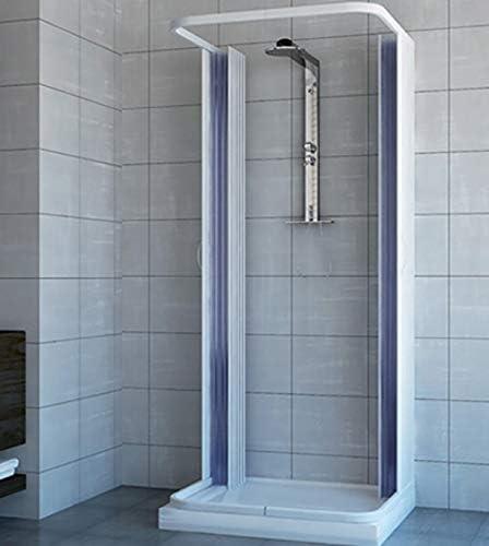 Mampara de ducha de 3 lados con fuelle de 70x70x70 reducible a ...