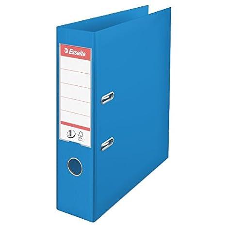 Esselte, Archivador de Palanca, PP, A4, 7,5 cm lomo, Azul Vivida, Nº. 1, 624067: Amazon.es: Oficina y papelería