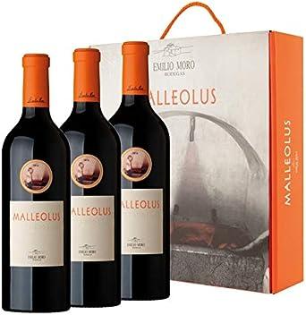 Vino Tinto Malleolus - D.O. Ribera del Duero - Estuche Regalo 3 botellas x 75cl: Amazon.es: Alimentación y bebidas